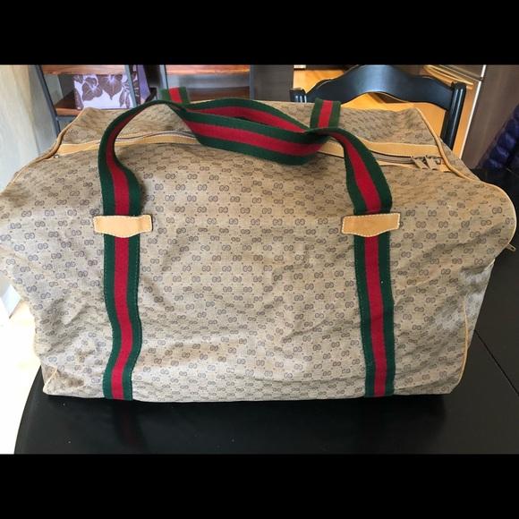 fa06e29229b834 Gucci Bags | Authentic Vintage Monogram Duffle Bag Travel | Poshmark
